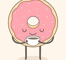 donut loves coffee by kimvervuurt