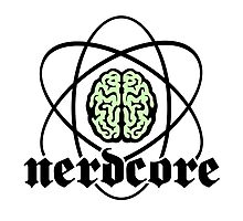 Nerdcore - Atomic Nucleus Brain Photographic Print