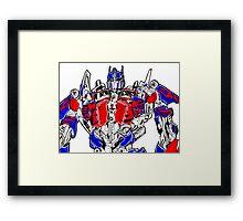 Optimus prime (Transformers movie) Framed Print
