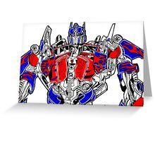 Optimus prime (Transformers movie) Greeting Card