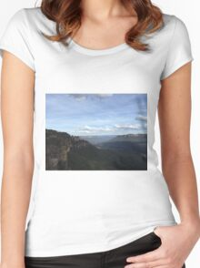 Blue Mountains - Seeing my 3 Sisters Women's Fitted Scoop T-Shirt