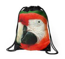 Scarlet Macaw Drawstring Bag