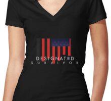 Designated Survivor Women's Fitted V-Neck T-Shirt