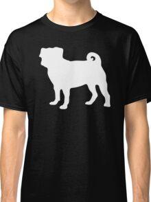 White Pug Classic T-Shirt
