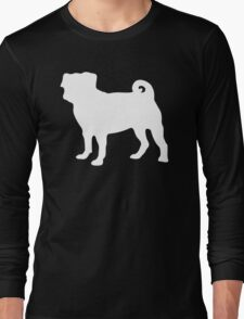 White Pug Long Sleeve T-Shirt
