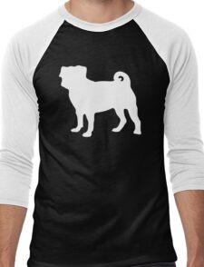 White Pug Men's Baseball ¾ T-Shirt