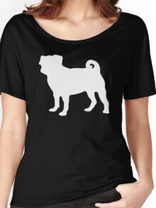 White Pug Women's Relaxed Fit T-Shirt