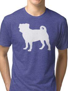 White Pug Tri-blend T-Shirt