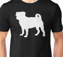 White Pug Unisex T-Shirt