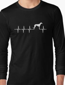 Greyhound Dog Heartbeat Love Long Sleeve T-Shirt