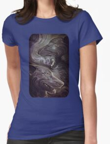 silver smoke Womens Fitted T-Shirt