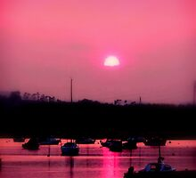 Sun setting over Topsham by Charmiene Maxwell-batten