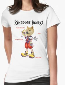KingDOGE Hearts Womens Fitted T-Shirt