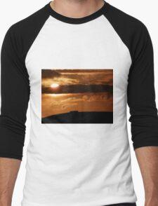 Grianian of Aileach Sunset ,Donegal, Ireland  Men's Baseball ¾ T-Shirt