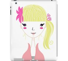 Beautiful Blond Girl isolated on White iPad Case/Skin