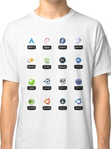 linux distributions set stickers /more Classic T-Shirt