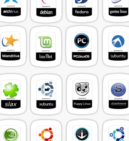 linux distributions set stickers /more Sticker