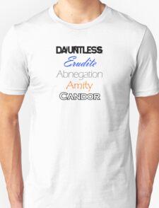 Divergent Factions Unisex T-Shirt