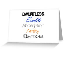 Divergent Factions Greeting Card