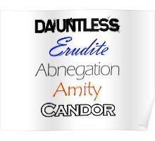 Divergent Factions Poster