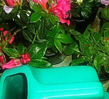 Ready for work  - planting Azaleas Sticker