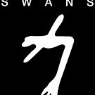 Swans - The Glowing Man white on black by Leatherface