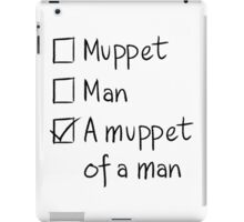 Muppet or Man iPad Case/Skin