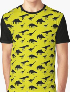 Tiled Dinosaurs Pattern Graphic T-Shirt
