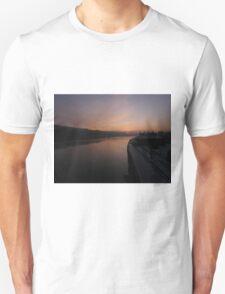 Up River - River Foyle from Craigavon Bridge Derry Ireland Unisex T-Shirt