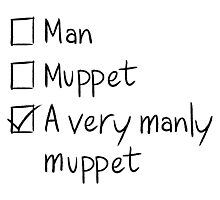 Man or Muppet Photographic Print
