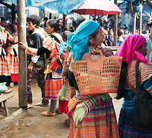 Shopping in Bac Ha Markets  by GypsySoulImages