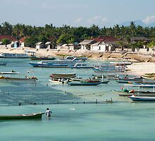 Nusa Lembongan boats by GypsySoulImages