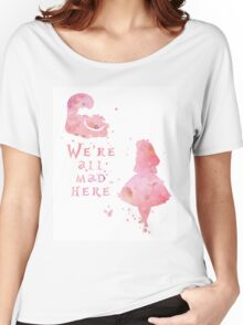 Watercolor pink all mad here Women's Relaxed Fit T-Shirt