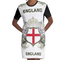 England Euro 2016 (white collection) Graphic T-Shirt Dress