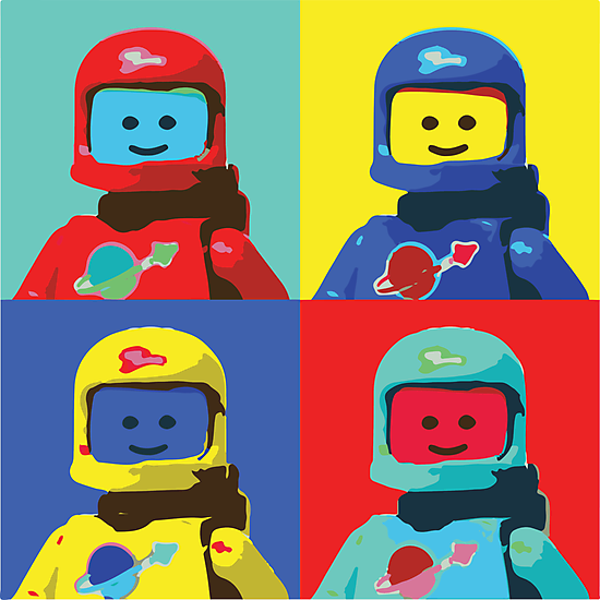 Retro Lego Spaceman by MrJirue