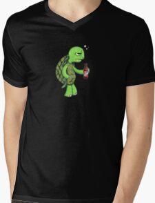 Bad Day Turtle Mens V-Neck T-Shirt