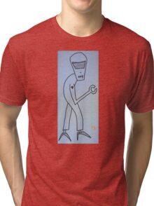 """Robot in High Heels"" by Richard F. Yates Tri-blend T-Shirt"