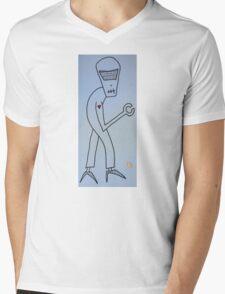 """Robot in High Heels"" by Richard F. Yates Mens V-Neck T-Shirt"