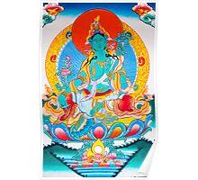Thangka painting Green tara Poster