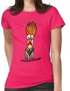 Meeeeeeeeep Womens Fitted T-Shirt