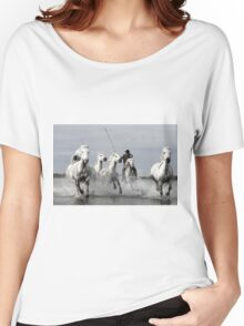 Wild White Horses, racing in Women's Relaxed Fit T-Shirt