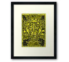 Rebirth - Black & Yellow Framed Print
