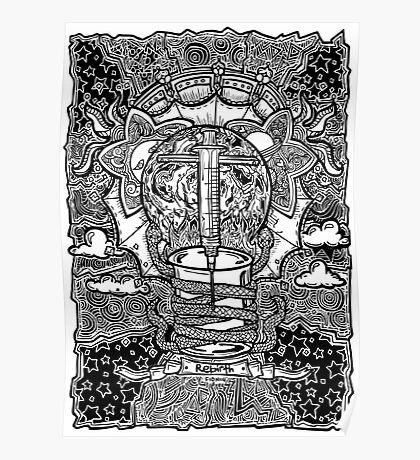 Rebirth - Black & White Poster