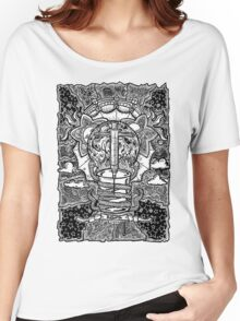 Rebirth - Black & White Women's Relaxed Fit T-Shirt