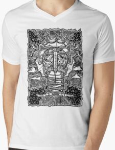 Rebirth - Black & White Mens V-Neck T-Shirt