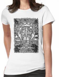 Rebirth - Black & White Womens Fitted T-Shirt