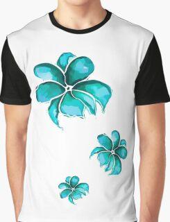WatercolorFlowersPattern Graphic T-Shirt
