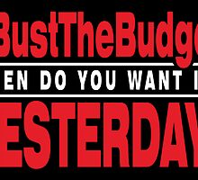 Bust The Budget - card - black by 3wisedonks