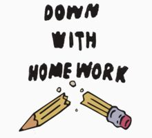 down with homework by flamborchid