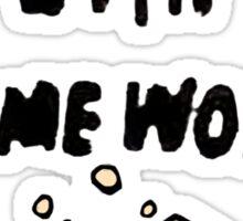 down with homework Sticker